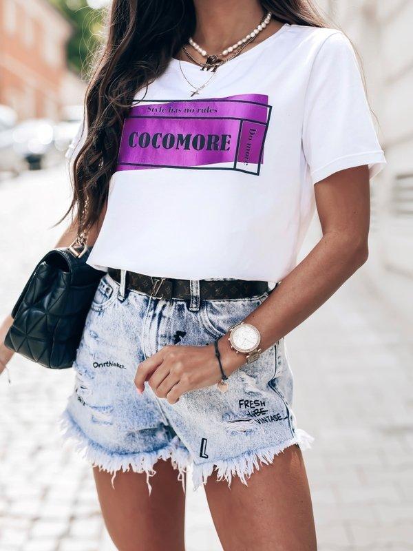 T-shirt Ultraviolet Biały