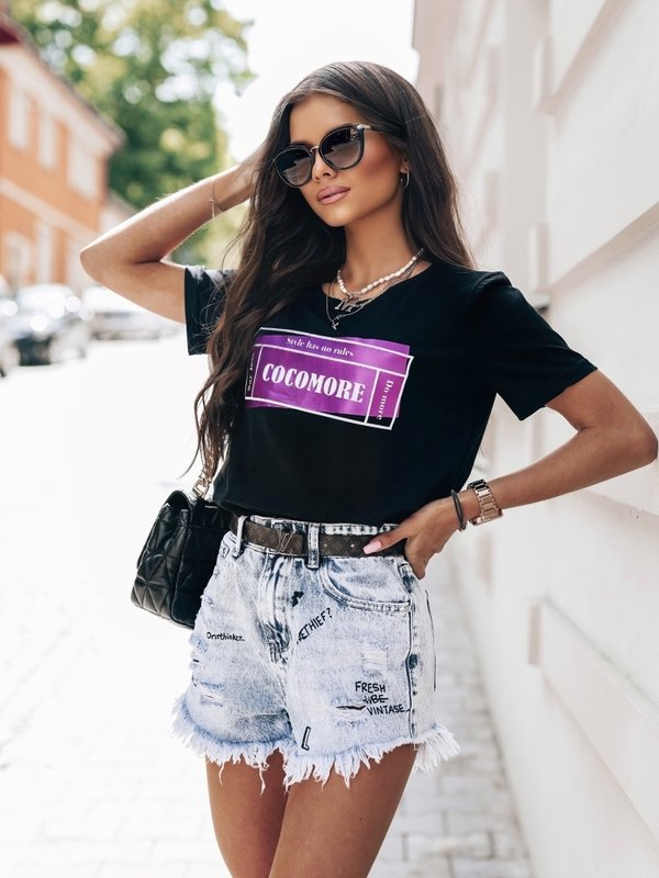 T-shirt Ultraviolet Czarny