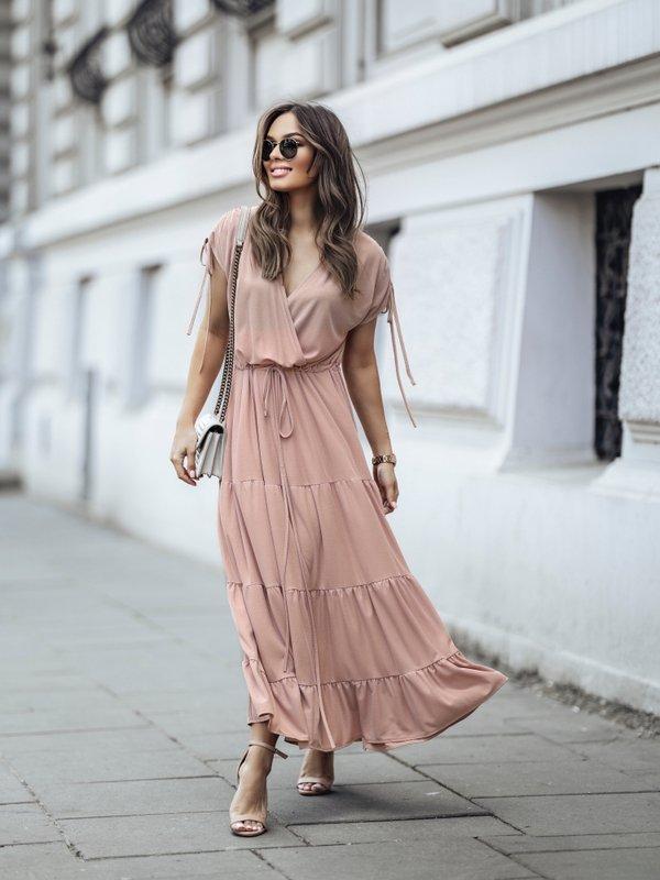 Sukienka Sensa Pudrowa