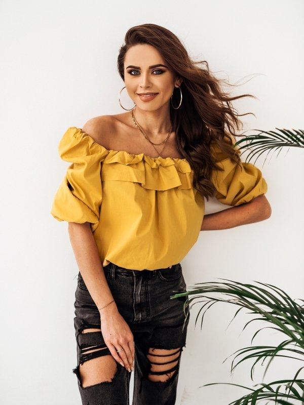 Bluzka Mexico Żółta