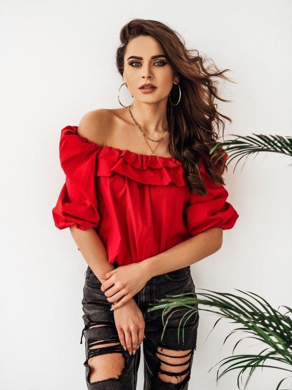 Bluzka Mexico Czerwona