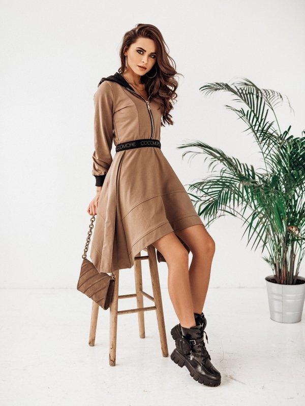 Sukienka Xenia Brązowa