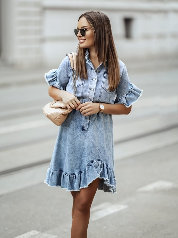 Sukienka Stone Jeans Niebieska