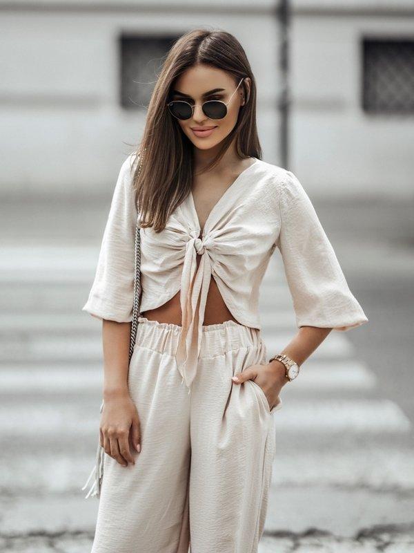 Koszula Leila Beżowa
