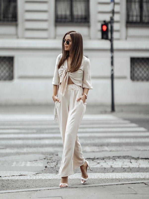 Spodnie Leila Beżowe