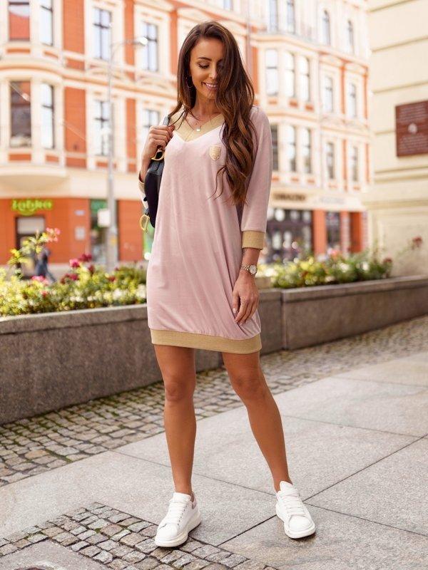 Sukienka Soft Pudrowa