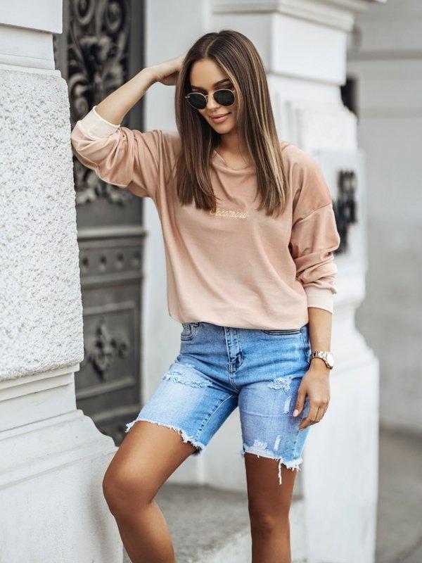 Bluza Cleo Colour Karmelowa