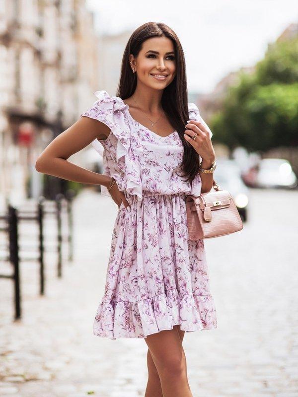Sukienka Remi Flower Fioletowa