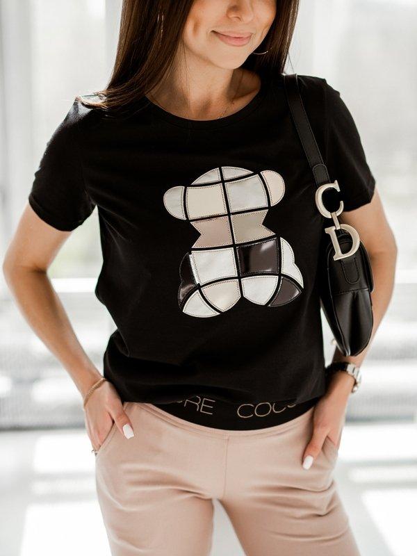 T-shirt Geo Bear Czarny