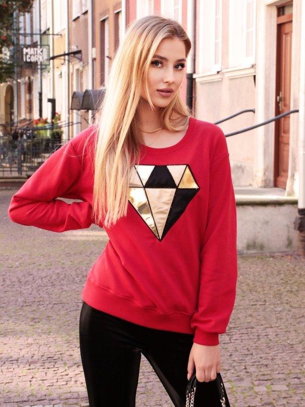 Bluza Diamond Czerwona