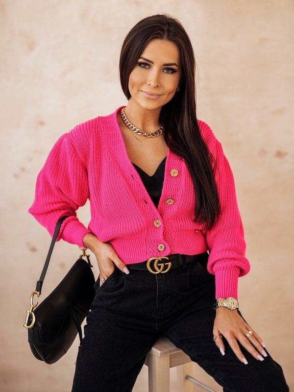 Sweter Noela Amarantowy