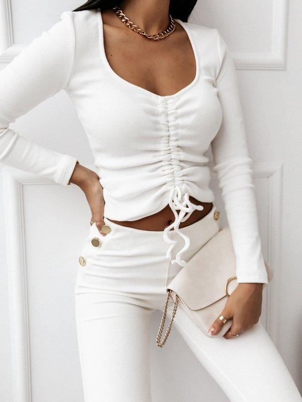 Bluzka Simple Stripe Biała