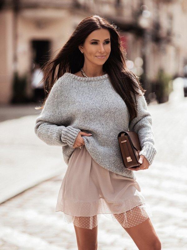 Sweter Dakota Szary