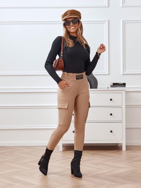 Spodnie Leah Karmelowe