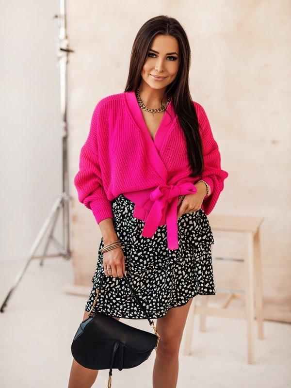 Sweter Rita Amarantowy