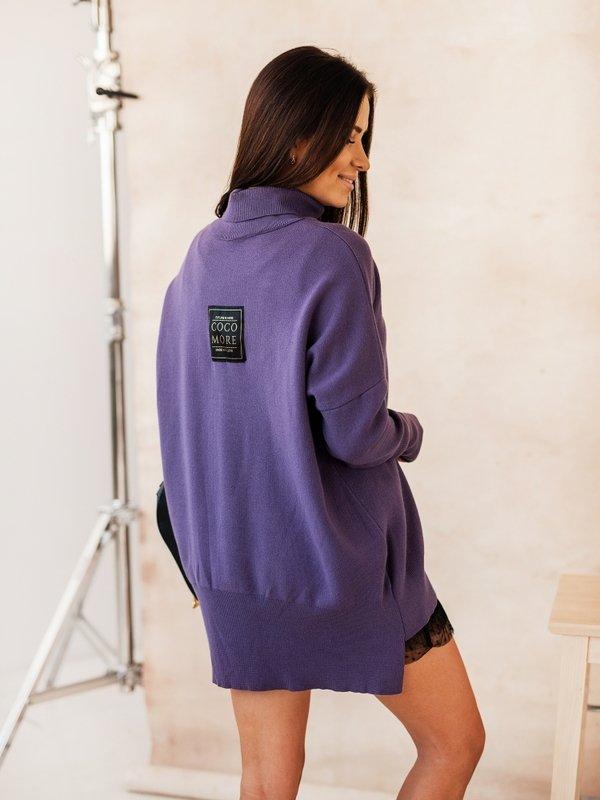 Sweter Violett Fioletowy