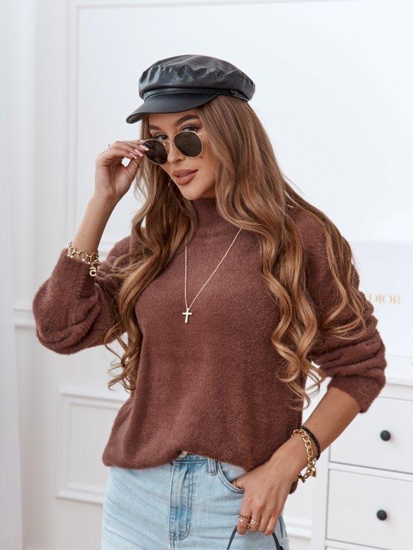 Sweter Savo Brązowy