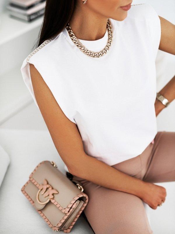 T-shirt Buffs Stripe Biały