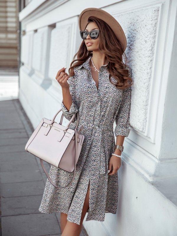 Sukienka Polena Pudrowa
