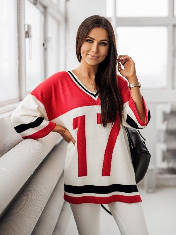 Sweter Seventeen Czerwony