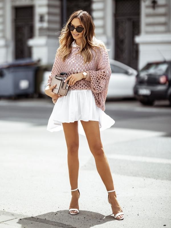 Sweter Benett Różowy