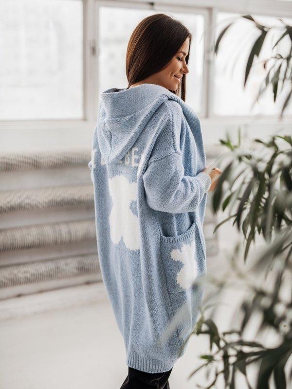 Sweter Love Bear Błękitny