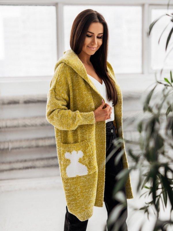 Sweter Love Bear Limonkowy