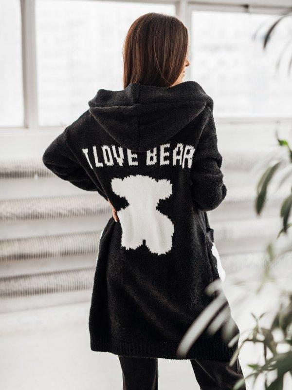 Sweter Love Bear Czarny