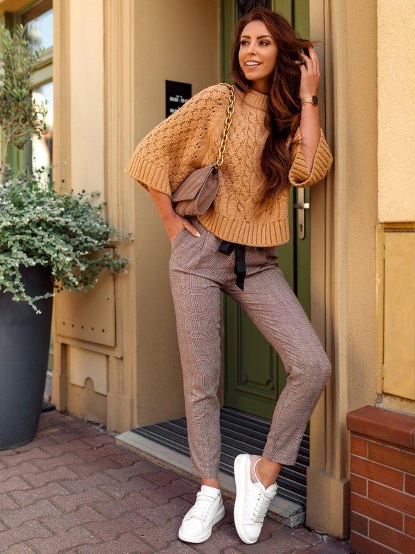 Sweter Beauty Karmelowy