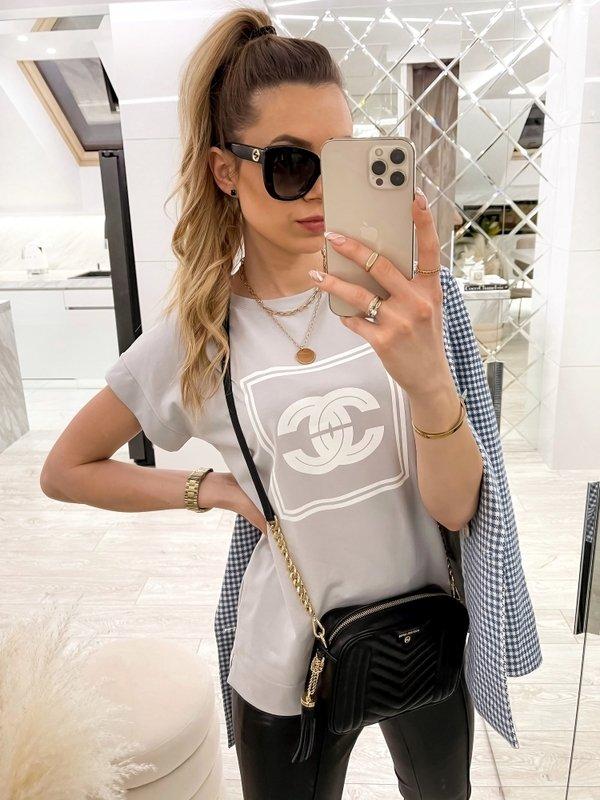 T-shirt Coco CC Szary