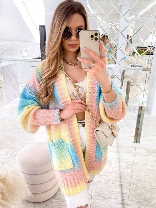 Sweter Rainbow Pudrowy