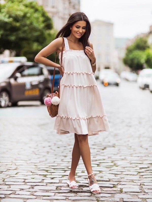 Sukienka Melony Pudrowa
