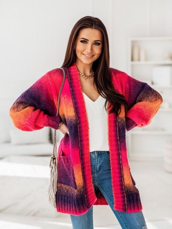 Sweter Rainbow Fioletowy