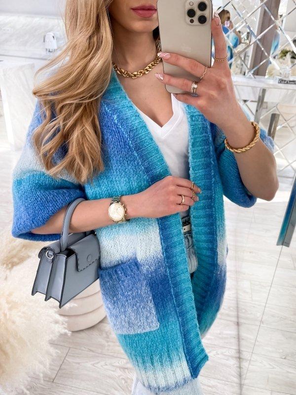 Sweter Rainbow Niebieski