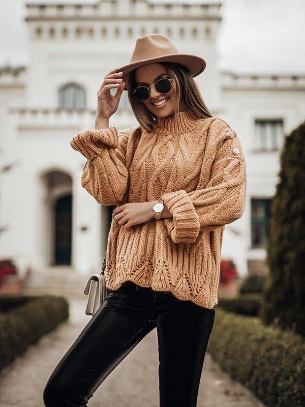 Sweter Brie Karmelowy