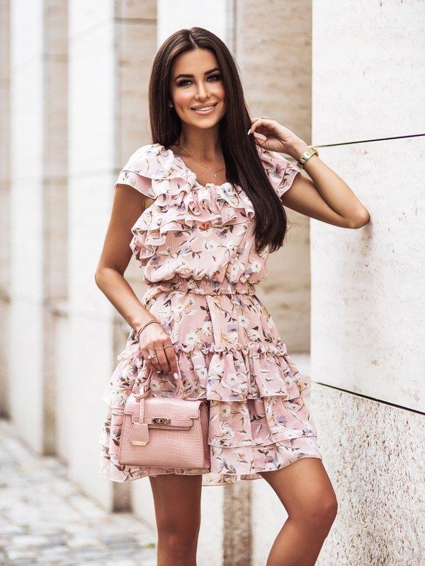 Sukienka Siena Pudrowa