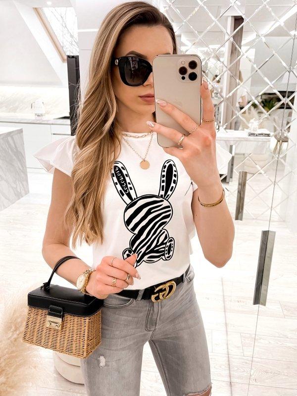 T-shirt Black Rabbit Biały