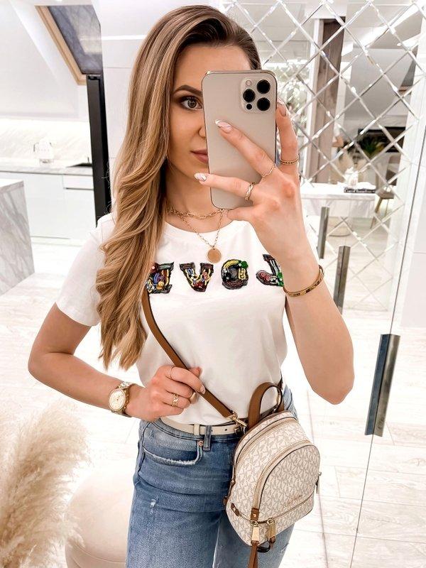 T-shirt Love Colour Biały