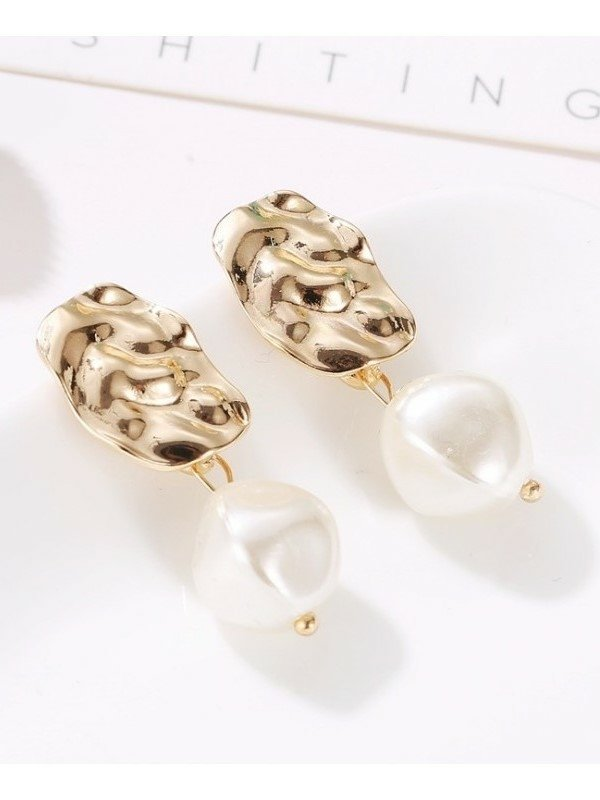 Kolczyki Pearl Canion Gold