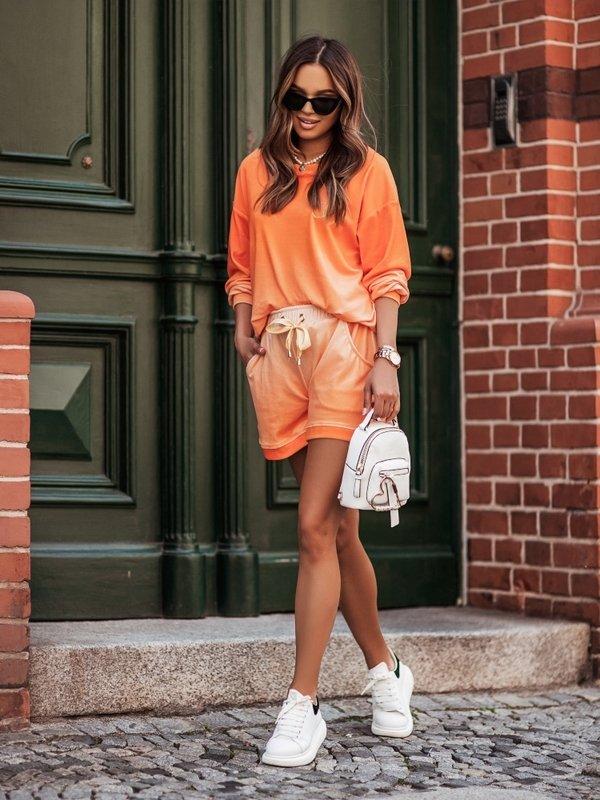 Spodenki Cleo New Pomarańczowe