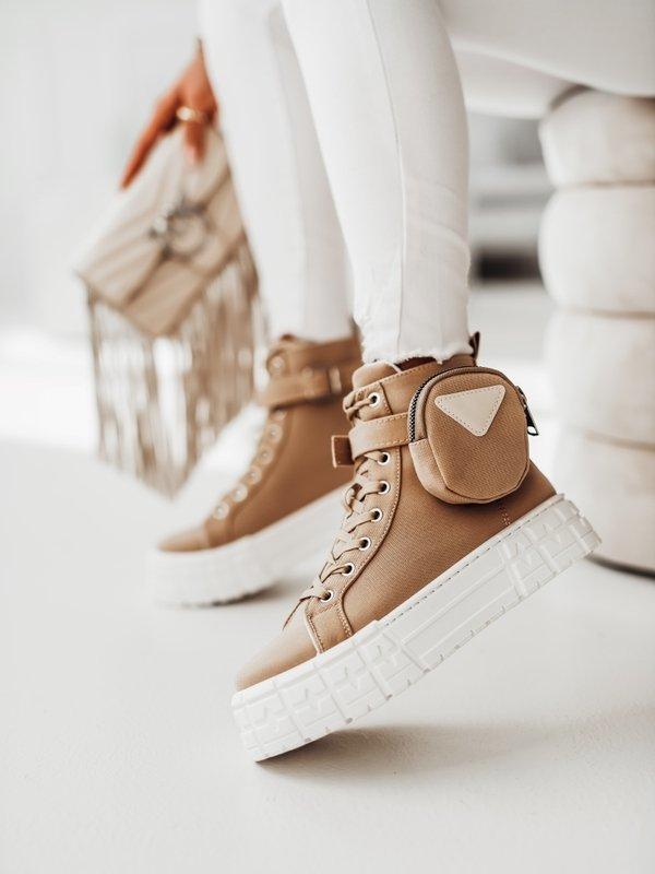 Sneakersy Sissi Beżowe