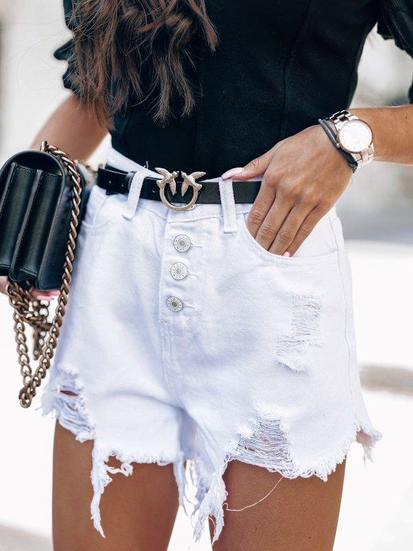 Spodenki Mose Jeans Białe