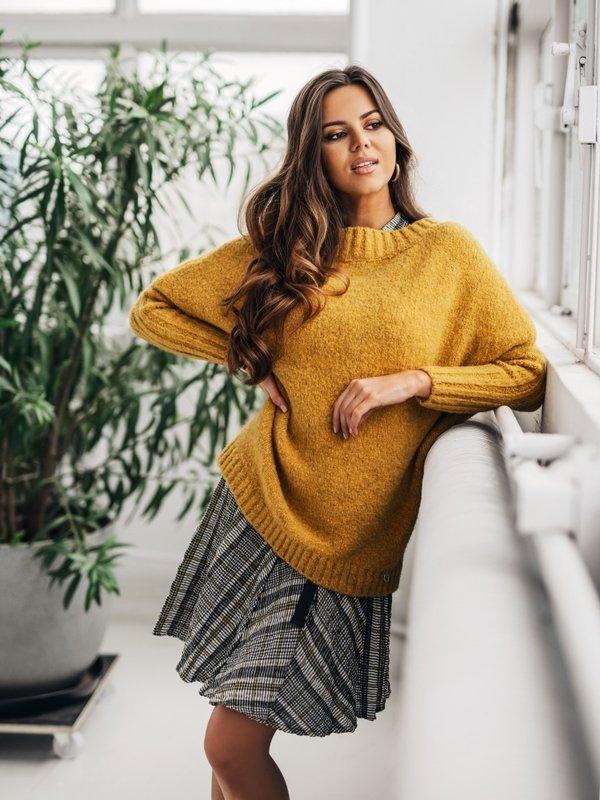 Sweter Jacqueline Musztardowy