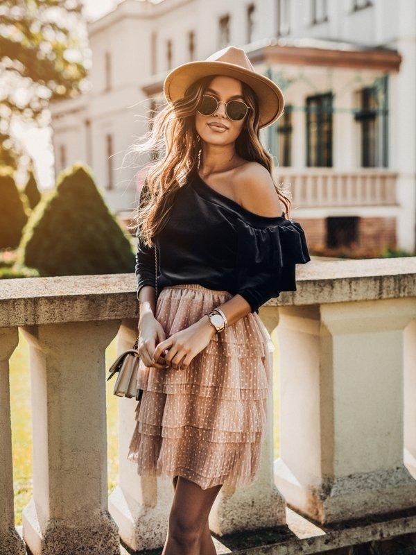 Bluzka Briselle Grafitowa