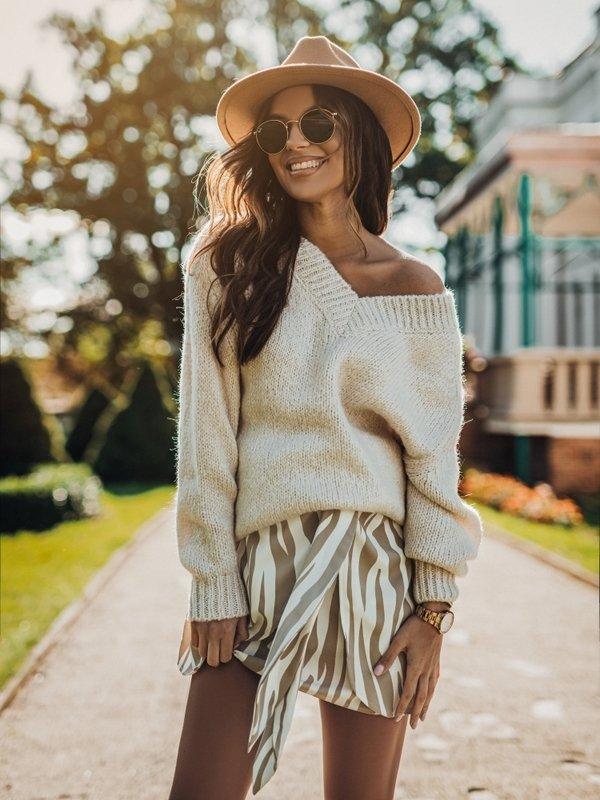 Sweter Ashley Kremowy