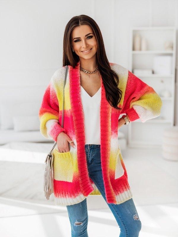 Sweter Rainbow Amarantowy