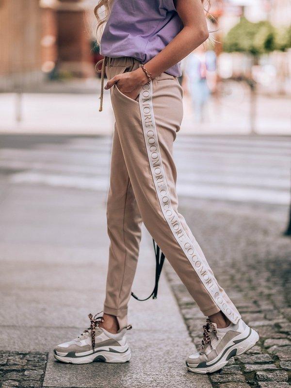Spodnie Plain Label Pudrowe