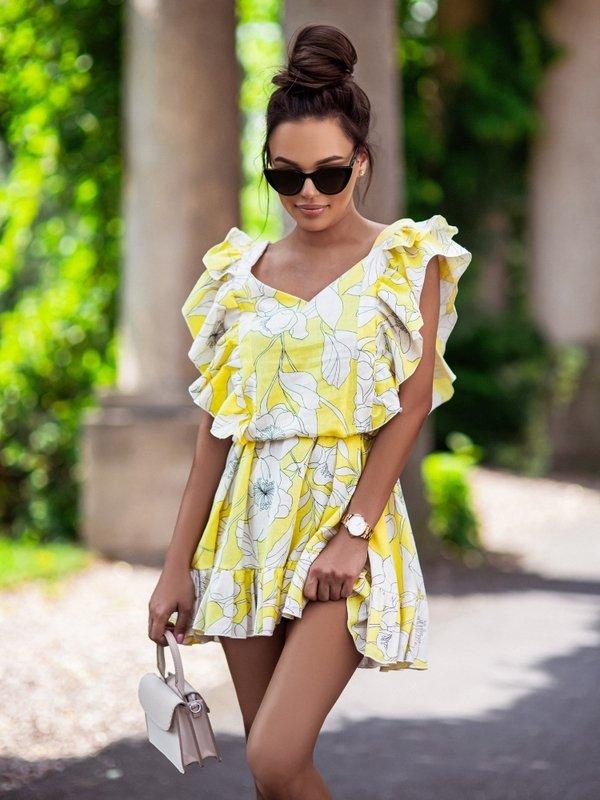 Sukienka Dalia Żółta