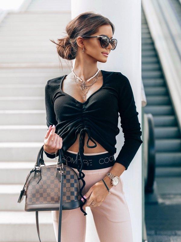 Bluzka Simple Stripe Czarna