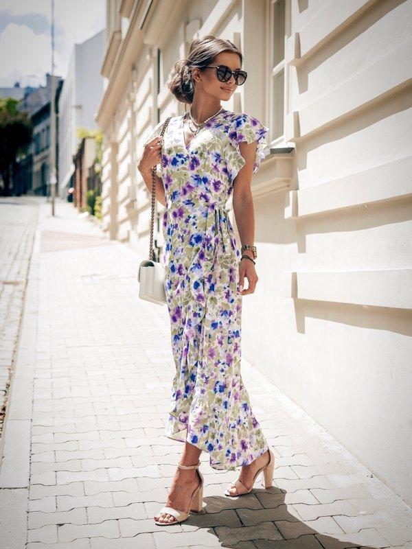 Sukienka Loni Niebieska
